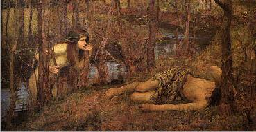 A Naiad, by John William Waterhouse